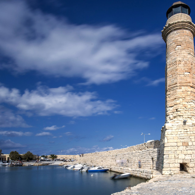 """The lighthouse of Rethymno City Crete"" stock image"
