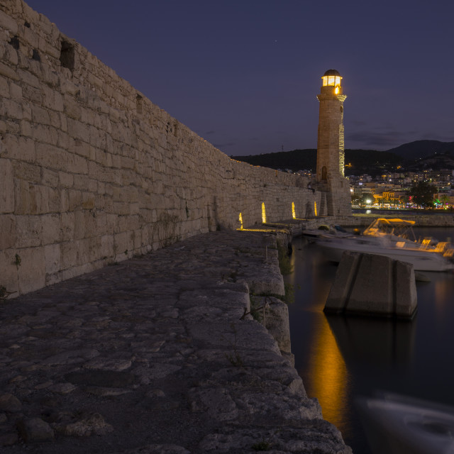 """""""Harbour of Rethymno City"""" stock image"""