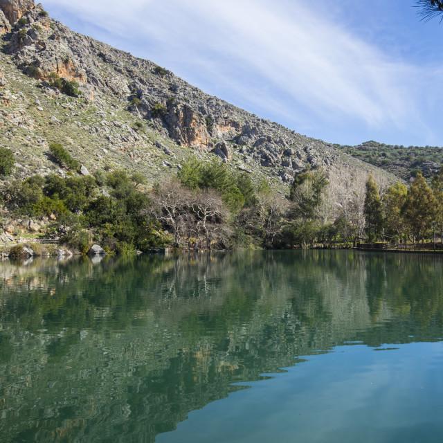 """""""Zaros Lake Crete"""" stock image"""
