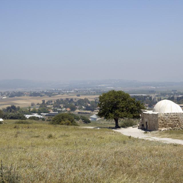 """Sheikh Abrek Tomb, Galilee, Israel"" stock image"