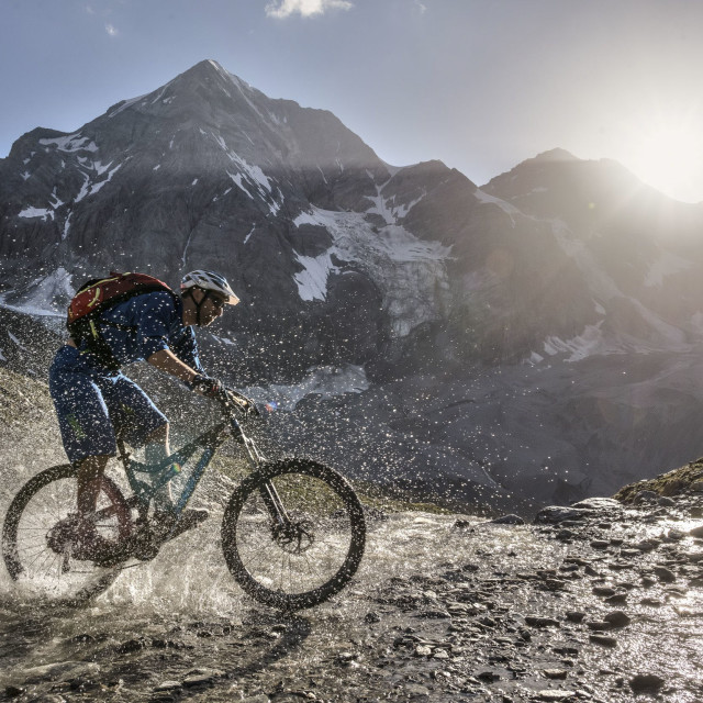 """Mountainbike Ride"" stock image"