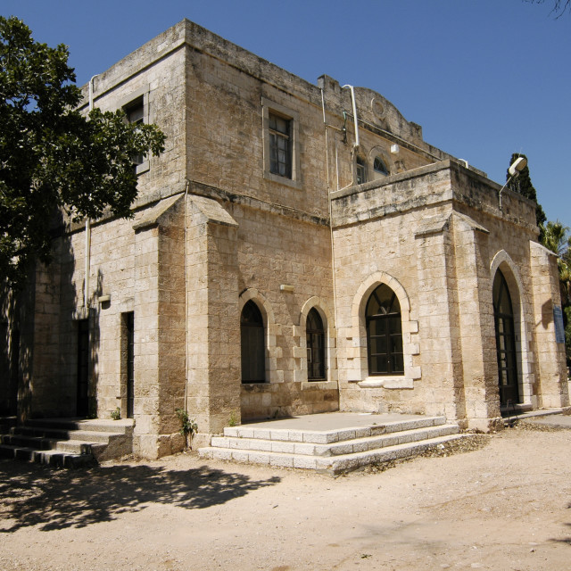 """Old templer building in Beit Lehem Haglilit"" stock image"