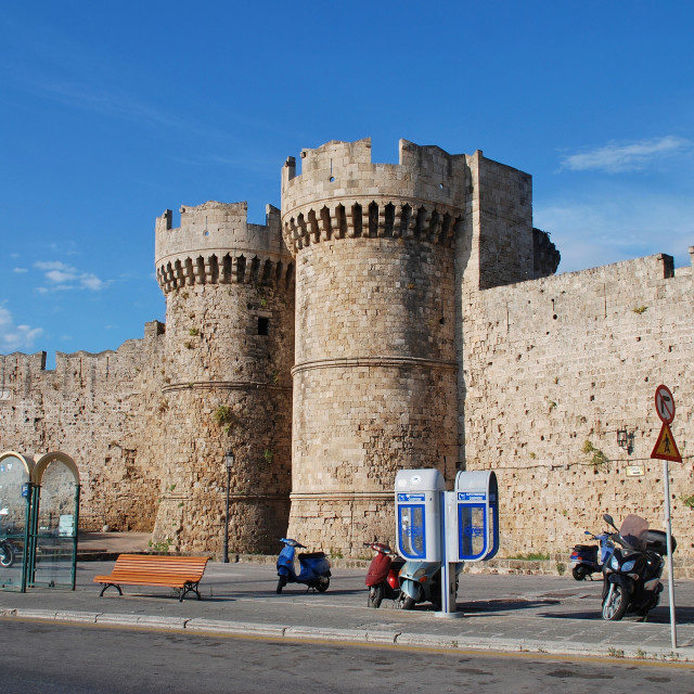 """""""Medieval Rhodes Old Town"""" stock image"""