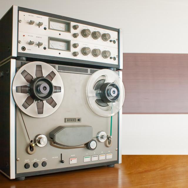 """professional reel tape recorder"" stock image"