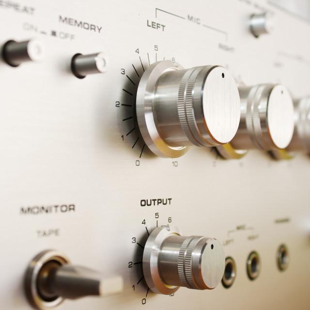 """control panel cassete recorder closeup"" stock image"