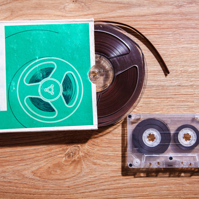 """""""old tapes and cassettes"""" stock image"""