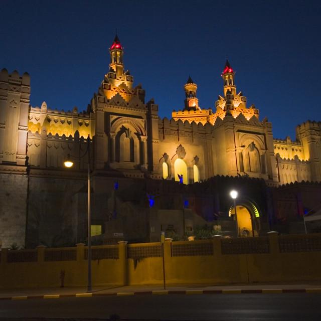 """Kings city, Eilat, at night"" stock image"