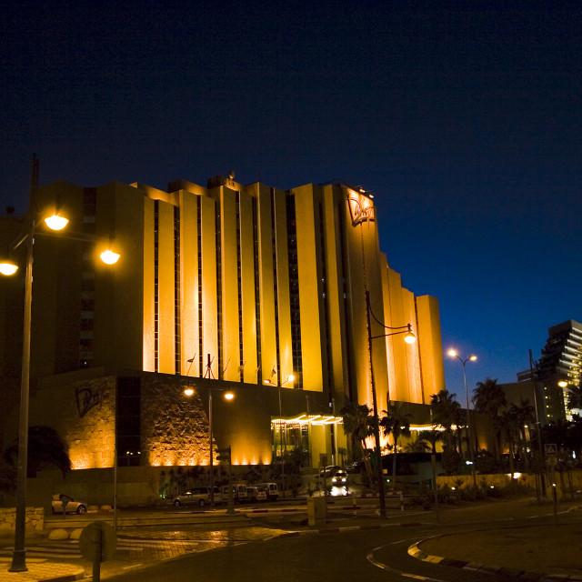 """Dan Hotel Eilat, at night"" stock image"