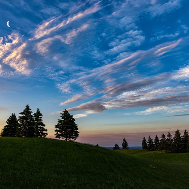 """Escarpment Road Sunrise"" stock image"