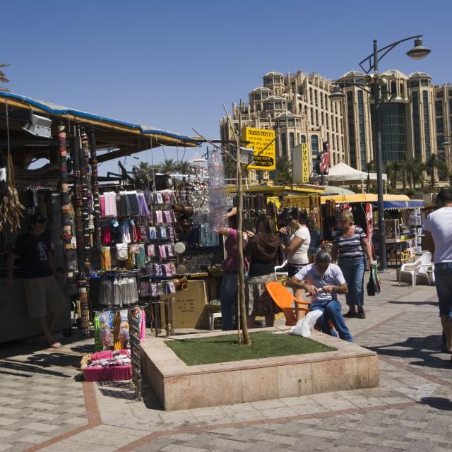 """The Eilat Promenade"" stock image"