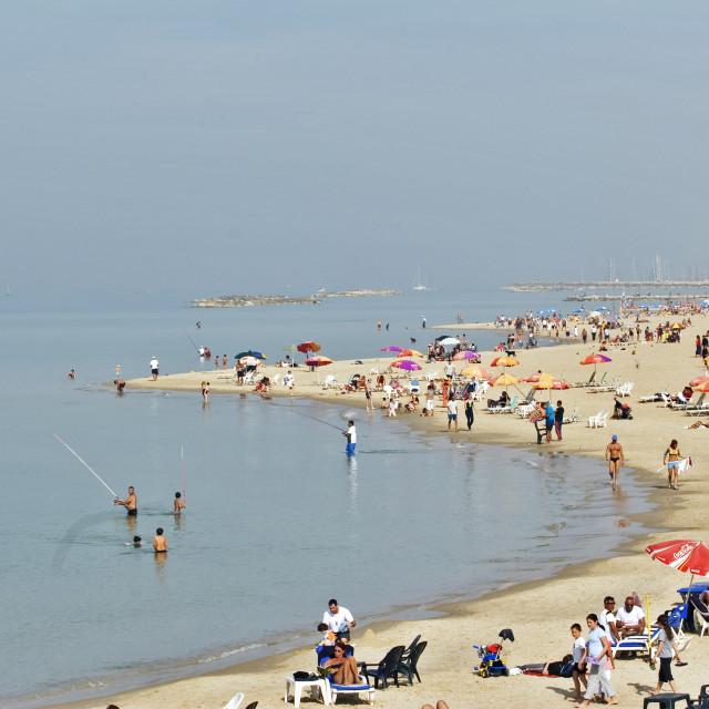 """On the Tel Aviv beach"" stock image"