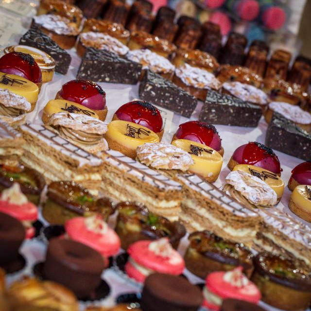 """""""Artisan Cake Stall in London"""" stock image"""