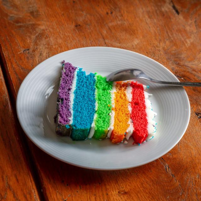 """Rainbow Cake"" stock image"