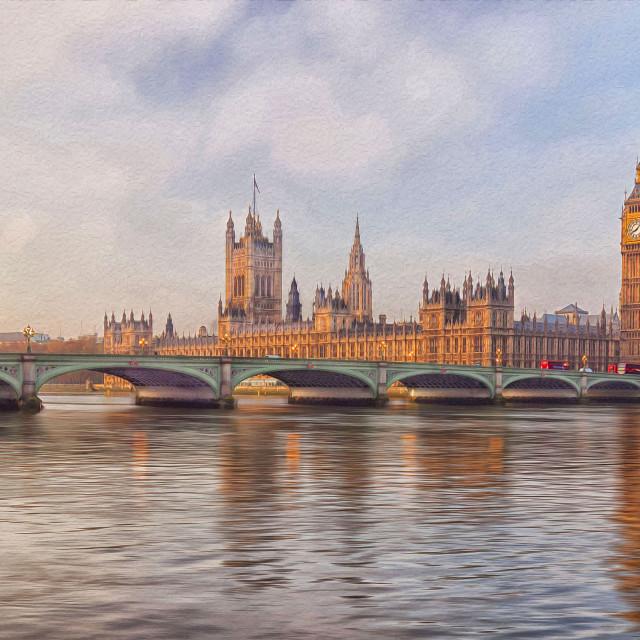 """Westminster Bridge London"" stock image"