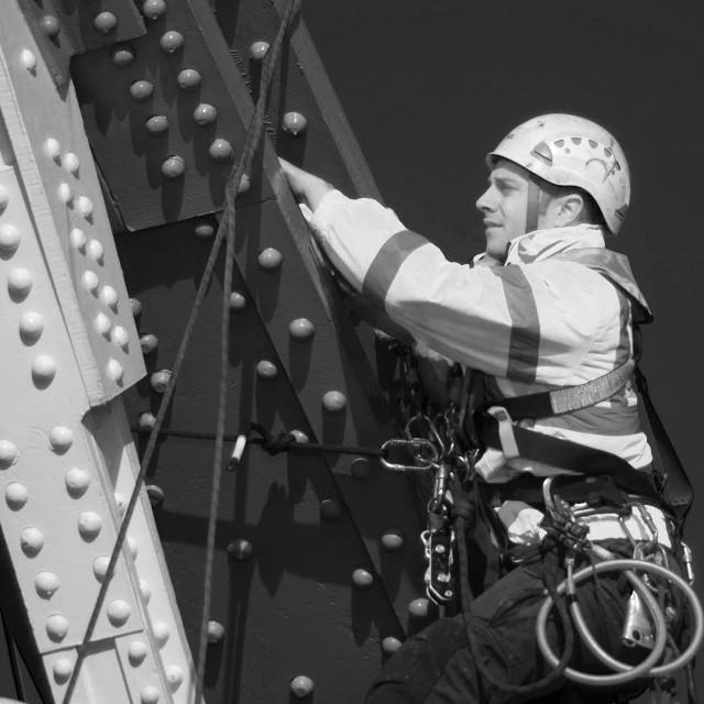 """Tower Bridge Work"" stock image"