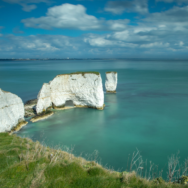 """Scenic View of Old Harry Rocks, Studland Bay, Dorset"" stock image"
