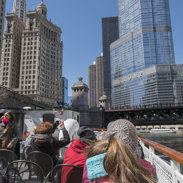 """""""Architecture cruise in Chicago"""" stock image"""