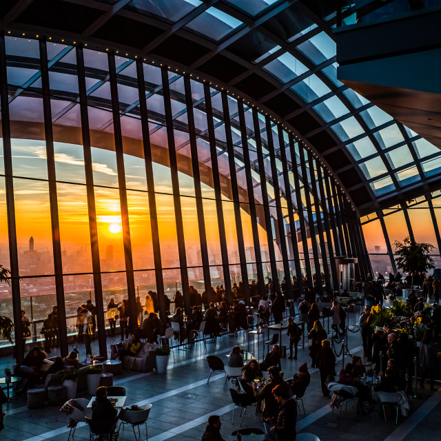 """View from Sky Garden"" stock image"