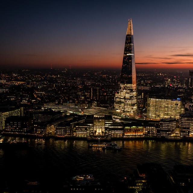 """""""The view from the Sky Garden"""" stock image"""