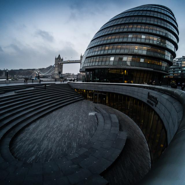 """London City Hall"" stock image"