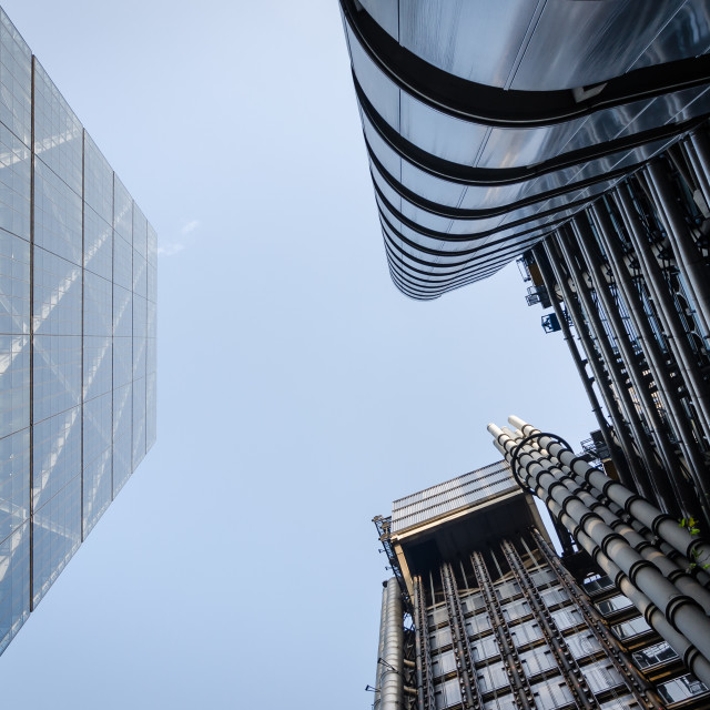 """""""Look up of London Skyscapers"""" stock image"""
