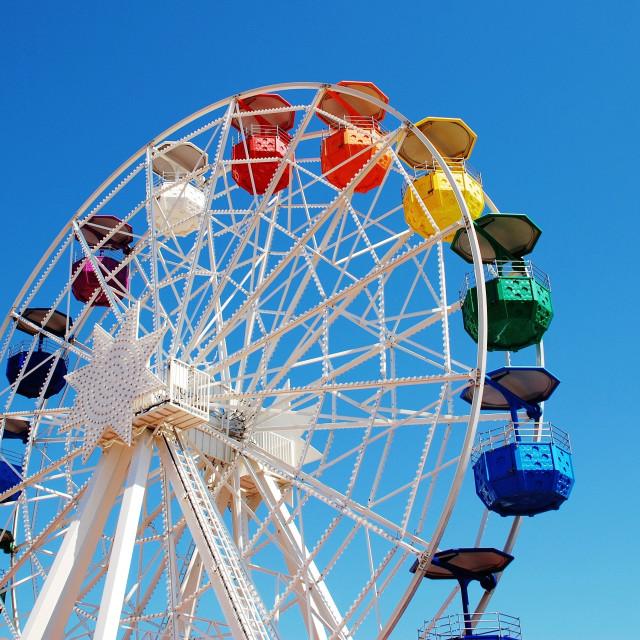 """Ferris wheel, Barcelona"" stock image"
