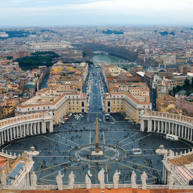 """St. Peter's Square"" stock image"