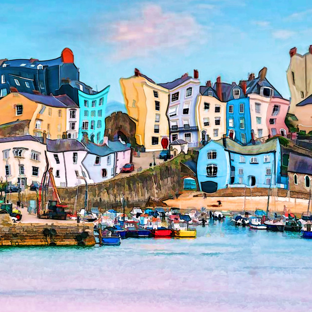 """Different Tenby"" stock image"