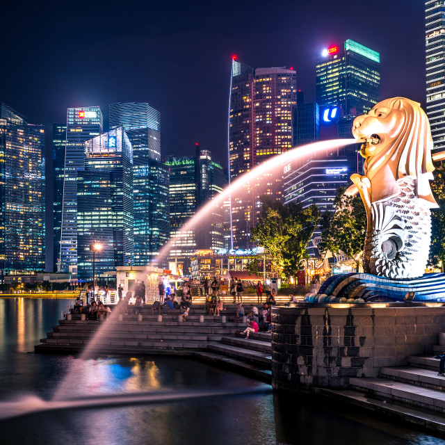 """City of Merlion"" stock image"