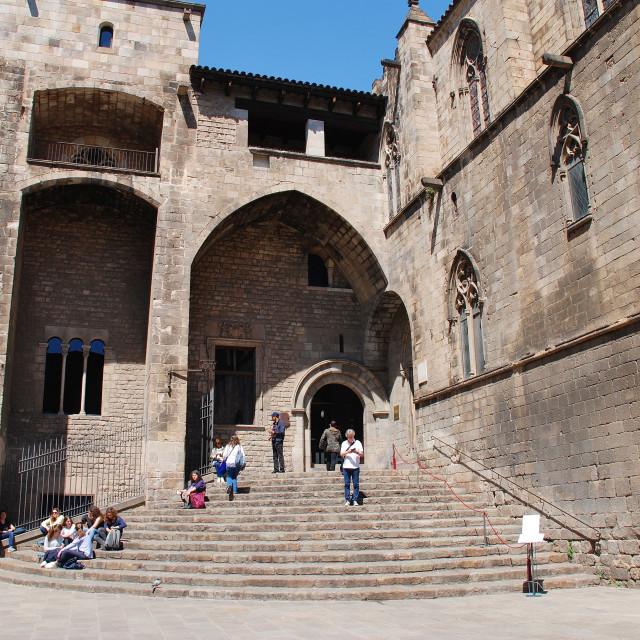 """Placa del Rei, Barcelona"" stock image"