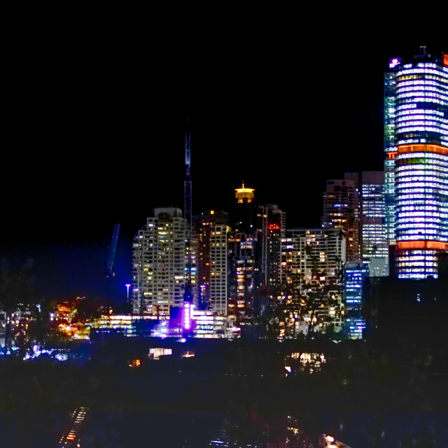 """HDR Sydney Nightscape"" stock image"