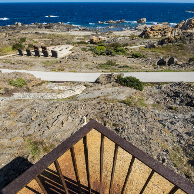 """In Cap de Creus a Club Med was deconstructed with the idea of ​​recovering the landscape of this part of the Costa Brava. In its place small interventions of landscape architecture were made. Catalonia, Spain"" stock image"