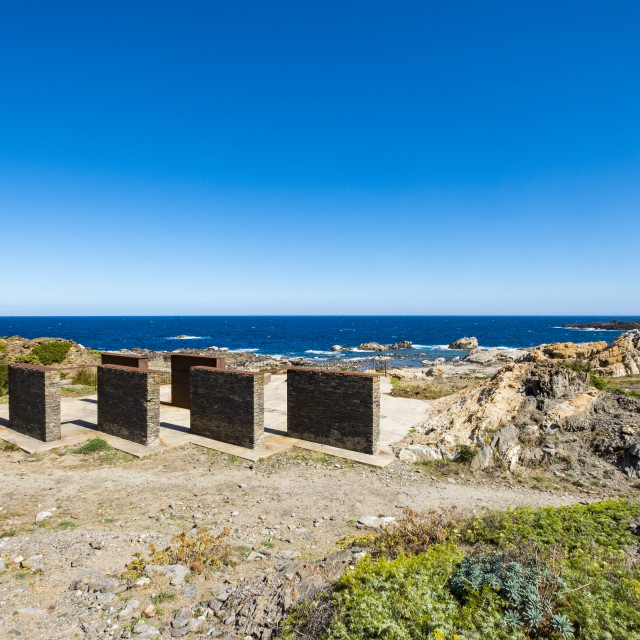 """""""In Cap de Creus a Club Med was deconstructed with the idea of recovering the landscape of this part of the Costa Brava. In its place small interventions of landscape architecture were made. Catalonia, Spain"""" stock image"""