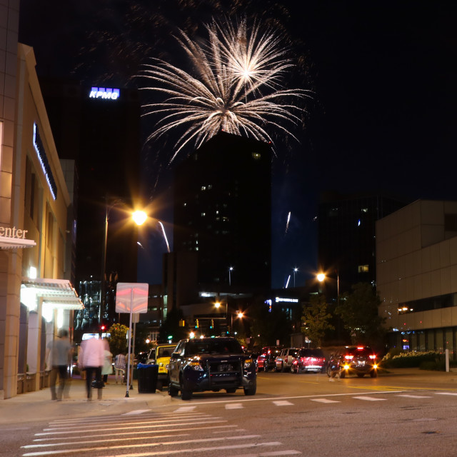 """Grand Rapids Fireworks"" stock image"