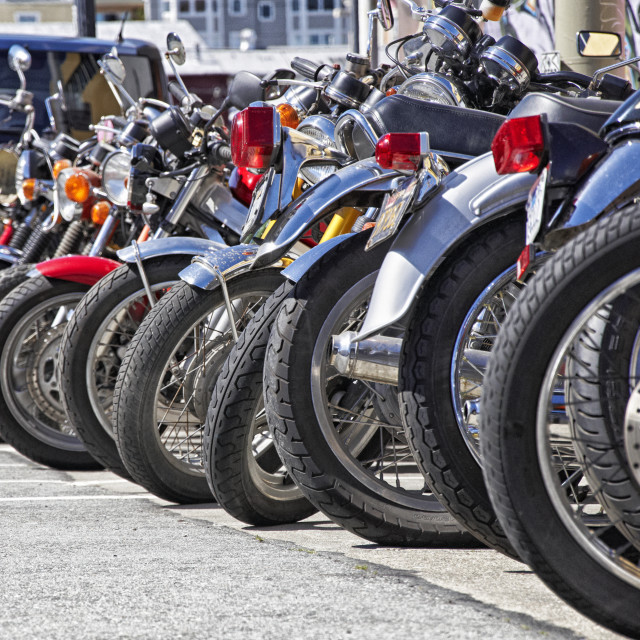 """""""Motorcycle wheels and tires"""" stock image"""