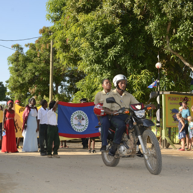 """Hokins Village, celebrates Belize Independence day 2017"" stock image"