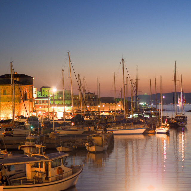 """Chania, sunset"" stock image"