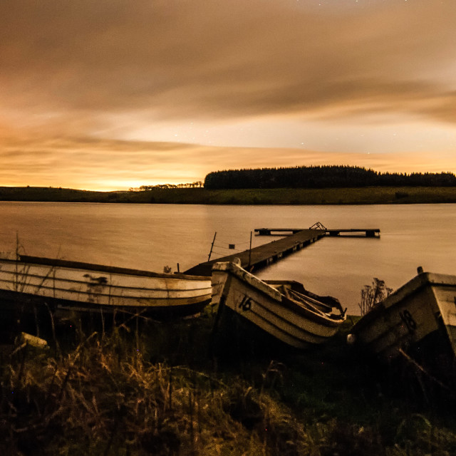 """Beached boats at the reservoir"" stock image"