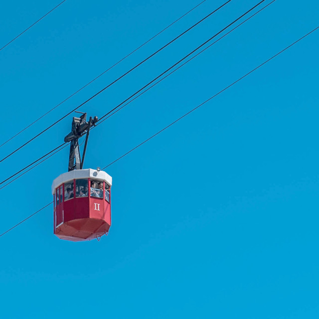 """Barcelona cable car"" stock image"