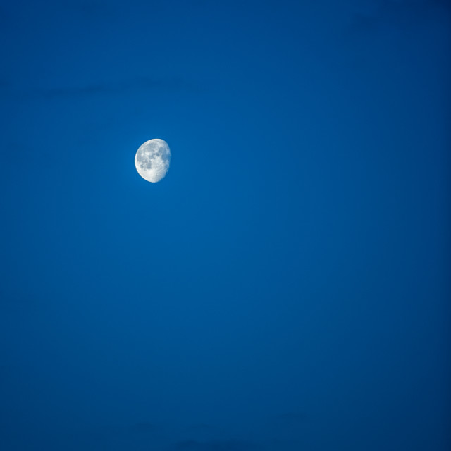 """Moon on blue sky"" stock image"
