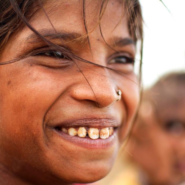"""SMILE - GIRL"" stock image"