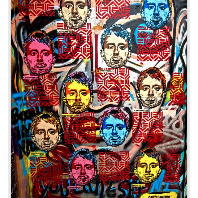 """Shoreditch,London StreetArt Mural."" stock image"