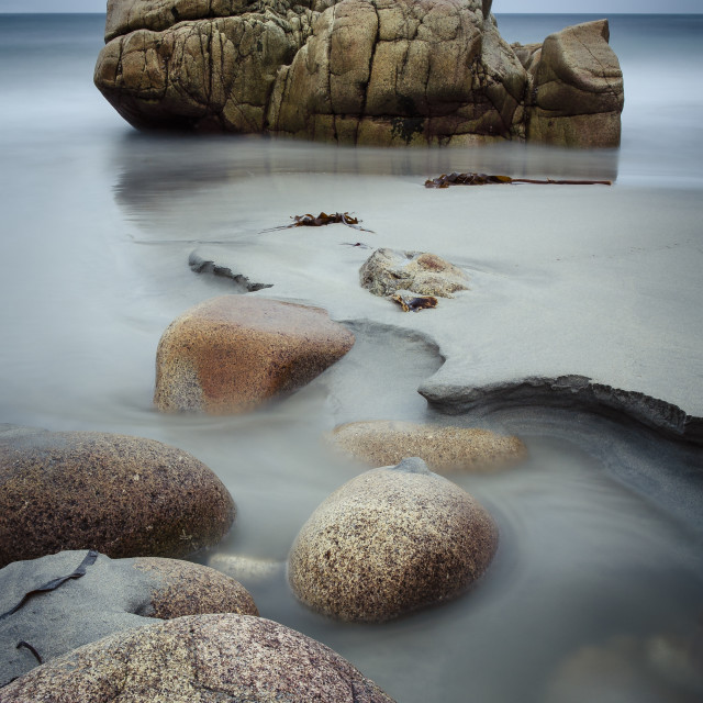 """""""Boulders at the beach"""" stock image"""