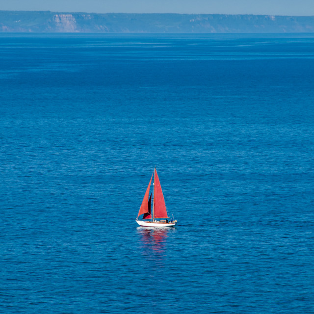 """Red sails"" stock image"