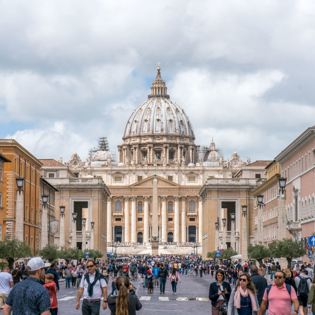 """""""View of the Vatican and St. Peter's Basilica"""" stock image"""