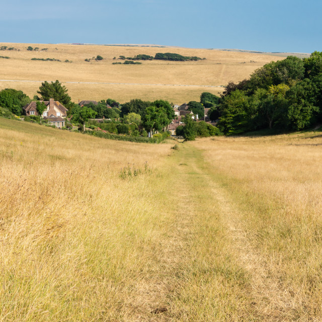 """Path to East Dean"" stock image"