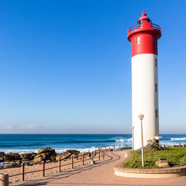 """Beach Lighthouse Ocean"" stock image"