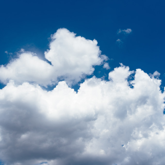 """Blue sky with clouds background"" stock image"