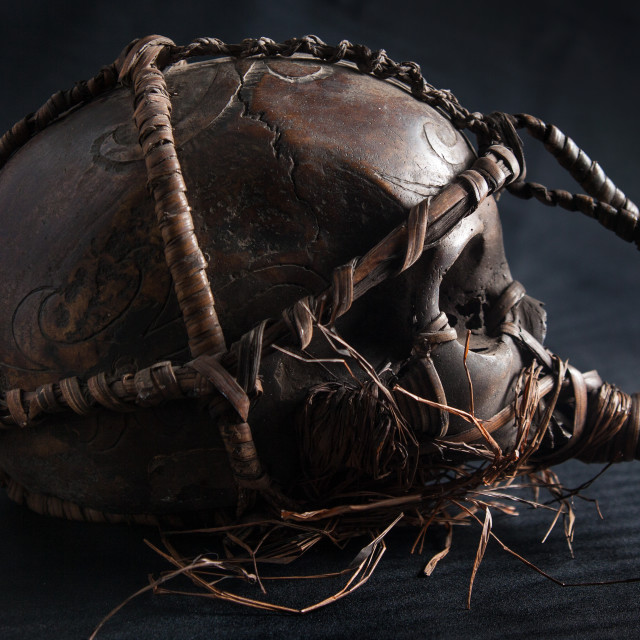 """""""A skull with a certain traditional touch"""" stock image"""
