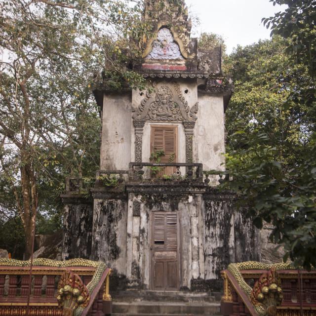 """CAMBODIA KAMPONG THOM PHNOM SANTUK TEMPLE"" stock image"